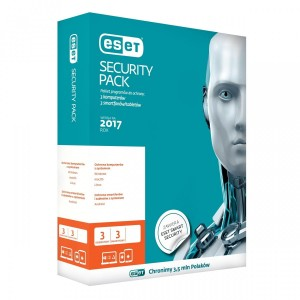 ESET Smart Security PACK - 3 stanowisk + 3 mobile 1 rok